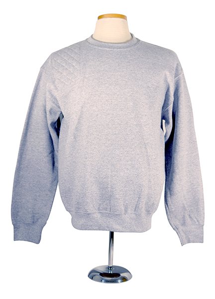 #12000 premium dryblend sweatshirt - right hand single layer pad, sport grey