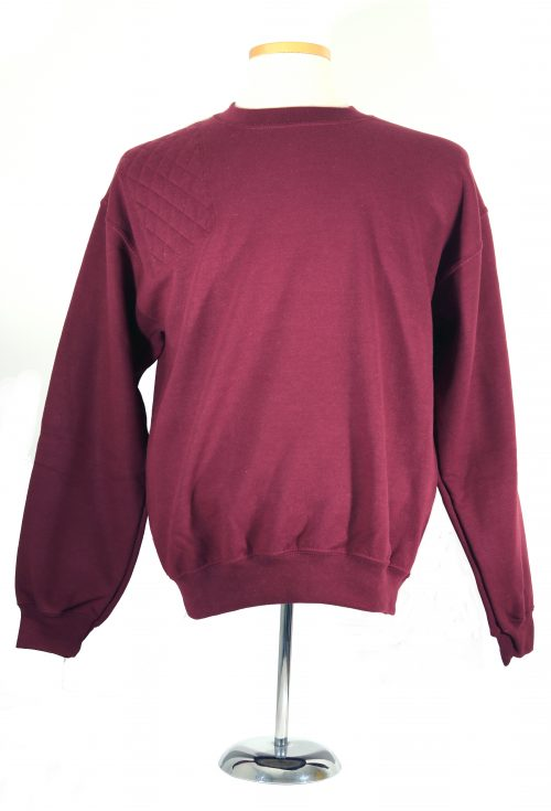 #18000 heavy blend sweatshirt - right single layer pad, maroon