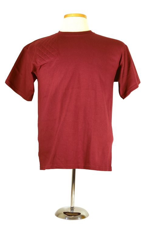 #2000B youth cotton t shirt - maroon right hand double layer pad