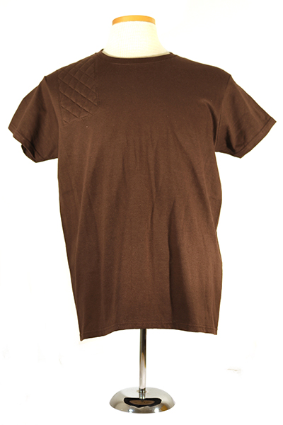 #2000L ladies short sleeve cotton tee - right hand double layer pad, dark chocolate