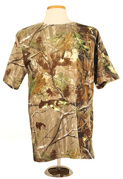 #3980 Real Tree Short Sleeve Cotton Shirt - Right hand double layer pad, APG pattern