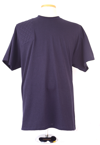 #8000 Mens 50.50 dryblend short sleeve tshirt - right hand double layer pad, Navy